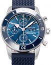 Breitling Superocean Heritage II Chronograph 44 A13313161C1S1, Strichindizes, 2020, Ungetragen, Gehäuse Stahl, Band: Kautschuk von Breitling