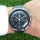 Speedmaster Moonwatch Apollo XI 25th anniversary limited edition Stahl von Omega