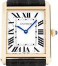 Cartier Tank Solo Großes Modell Gelbgold Leder Ref. W5200004 von Cartier