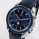 Speedmaster Moonphase Chronograph Master Chronometer Stainless Steel / Blue / Alligator von Omega